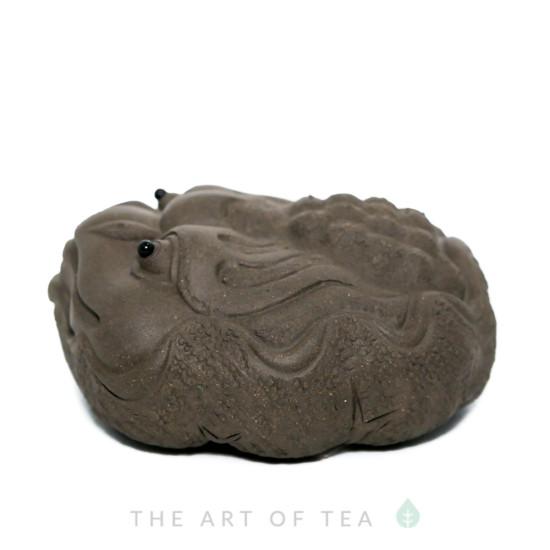 Чайная фигурка Жаба на Лотосе, большая, глина