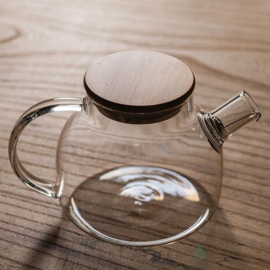Чайник из огнеупорного стекла Бамбук, 1000 мл