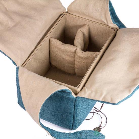 Чехол-шкатулка для чайной утвари #2, синий