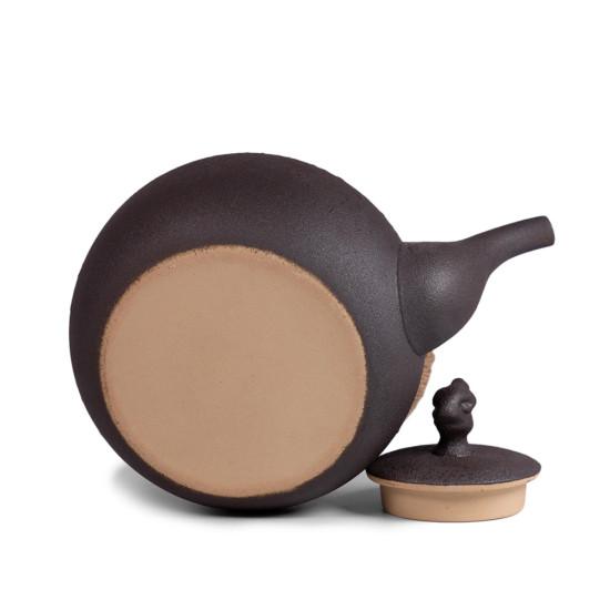 Чайник для воды, огнеупорная керамика, чёрный #1