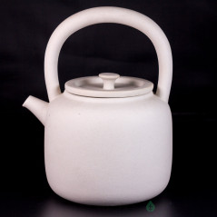Чайник для воды, огнеупорная белая керамика, 900 мл