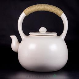 Чайник для воды, огнеупорная керамика, белая глазурь #2