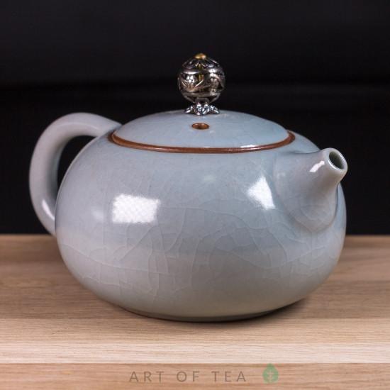 Чайник Кракелюр, к128, керамика, 200 мл