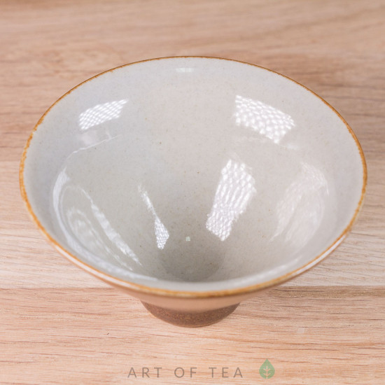 Пиала Конус, золотая, керамика, глазурь, 55 мл