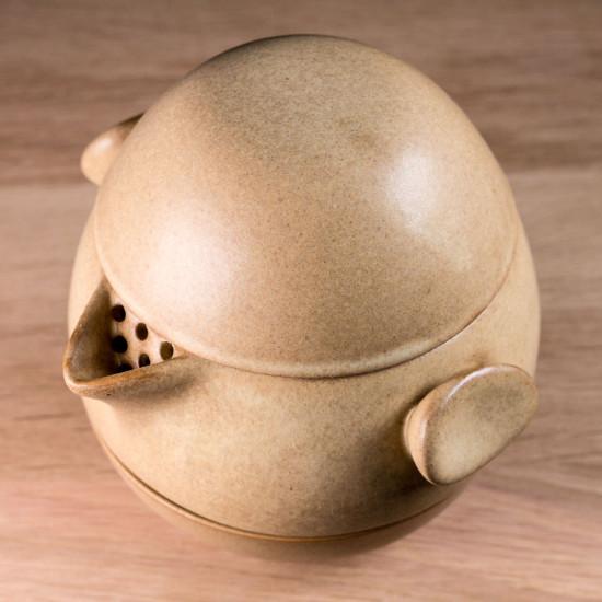 Набор походный S77, Яйцо-трансформер, бежевый, глина, глазурь