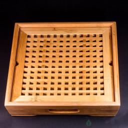 Чабань Квадрат #51, бамбук, 29*29*6,5 см