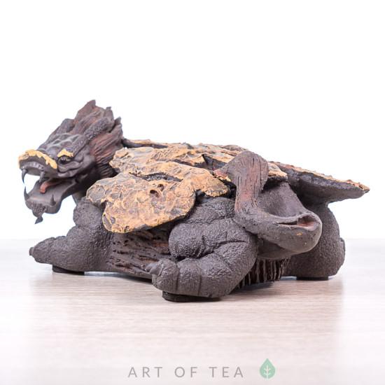 Фигурка Удивленный Дракон, исинская глина, 17 см (уценка)