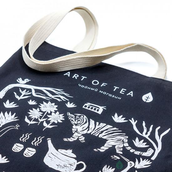 Сумка-шоппер Art of Tea 2.0, чёрная