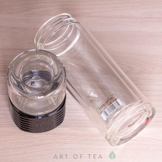 Бутылка заварочная в чехле, двойное стекло, 350 мл