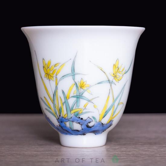 Пиала 12 цветов бессмертия 817, Цзиндэчжэнь, 60 мл