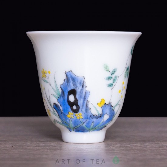 Пиала 12 цветов бессмертия 813, Цзиндэчжэнь, 60 мл