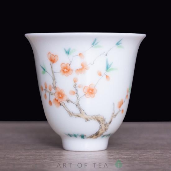 Пиала 12 цветов бессмертия 816, Цзиндэчжэнь, 60 мл