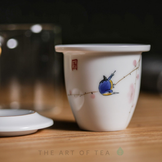 Колба для заваривания чая Синяя птица, 210 мл