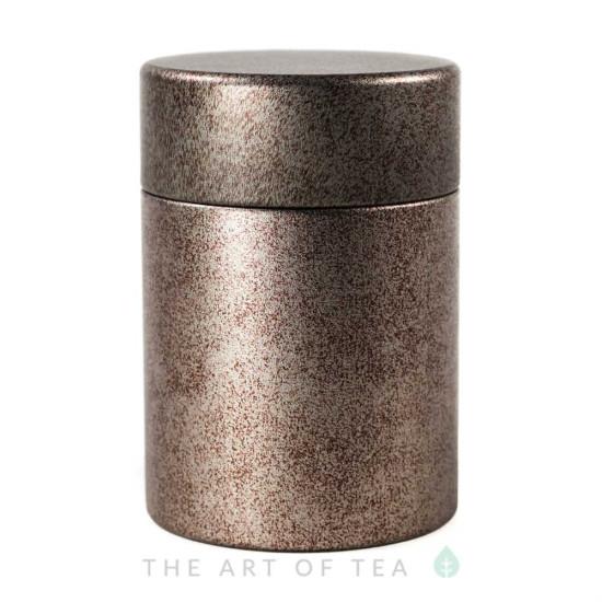 Баночка для чая Бронзовая, жесть, 5,5*8 см