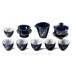 Набор посуды S52, фарфор, Жу Яо, 9 предметов
