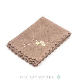 Чайное полотенце Камелия, коричневое, 30*30 см