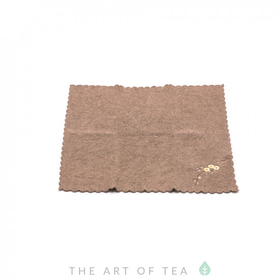 Чайное полотенце Камелия, синее, 30*30 см