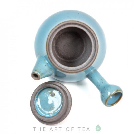 Чайник с боковой ручкой, синий, 70 мл