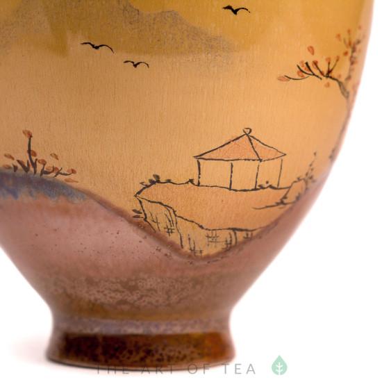 Пиала Разлученные рвом 464, ручная роспись, 110 мл