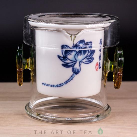 Колба для заваривания чая, низкая, фарфор, 200 мл