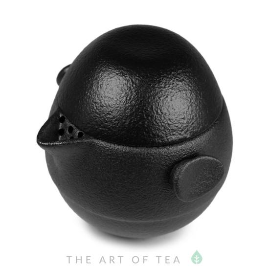 Набор походный S78, Яйцо-трансформер, чёрный, глина, глазурь