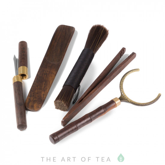 Инструменты для чайной церемонии #25, тёмное дерево