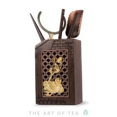 Инструменты для чайной церемонии Лотос #24, тёмное дерево