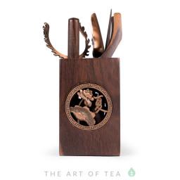 Инструменты для чайной церемонии #28, тёмное дерево
