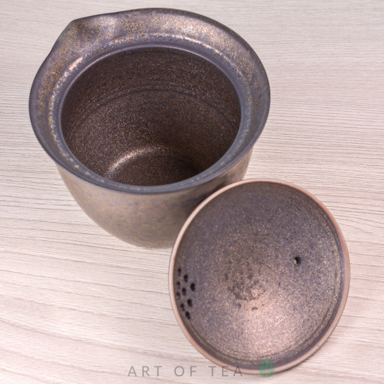 Гайвань-чайник, тайваньский стиль, тонкостенная керамика, 180 мл