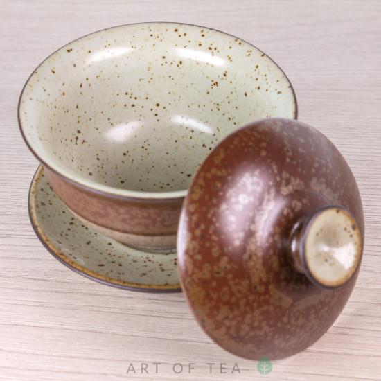 """Гайвань """"Древность"""" мини, бордовая, керамика, глазурь, 85 мл"""