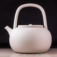 Чайник для воды, огнеупорная белая керамика, 800 мл