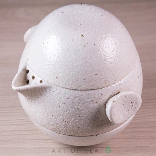 Набор походный S46, Яйцо, белый, глина, глазурь