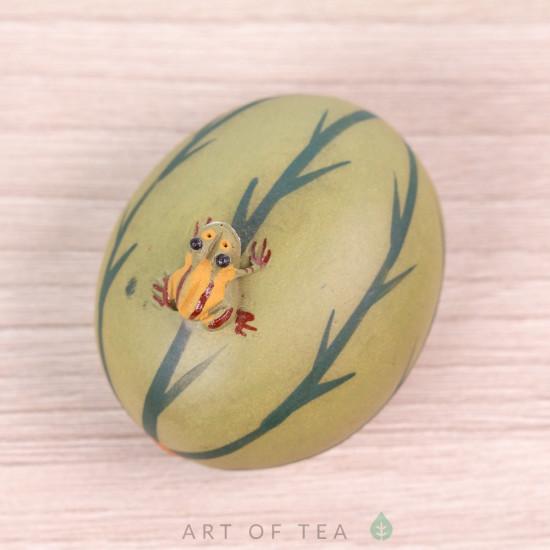 Фигурка Лягушка на арбузе, 4 см