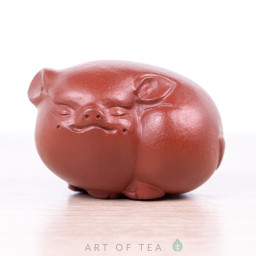 Фигурка Спящая свинка, глина, 5 см