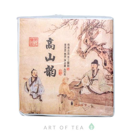 Гао Шань Юнь, шу пуэр, 2016 г (пресс 2020 г), куб 400 гр
