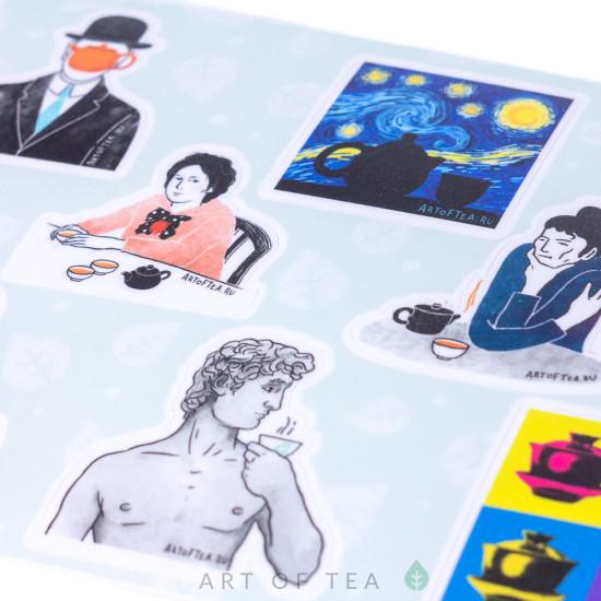 """Набор стикеров (стикерпак) """"Искусство чая"""" Art of Tea"""
