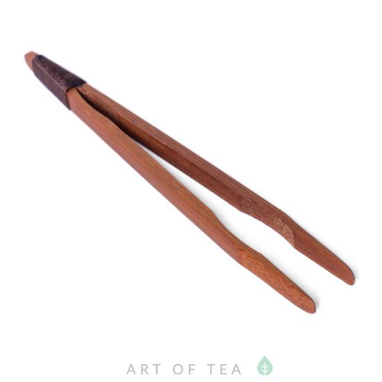 Пинцет с обмоткой, бамбук, темный