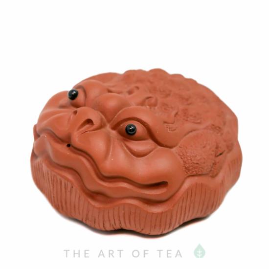 Чайная фигурка Жаба на Лотосе, глина