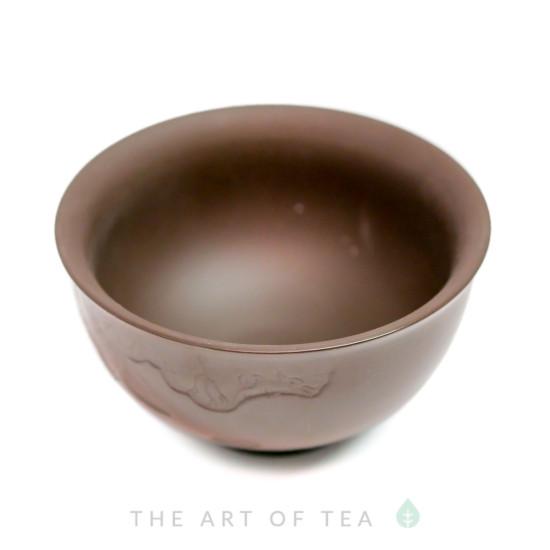 Пиала Лиан Хуа, полированная глина, 60 мл