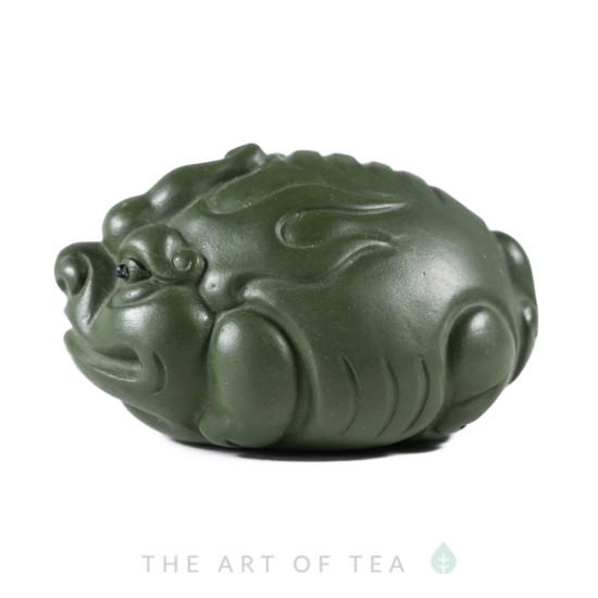Чайная фигурка Зеленая Собака, глина