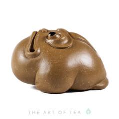 Чайная фигурка Удивленная жаба, желтая, глина