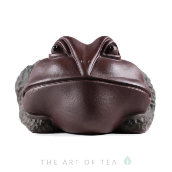 Чайная фигурка Тёмная жаба, глина