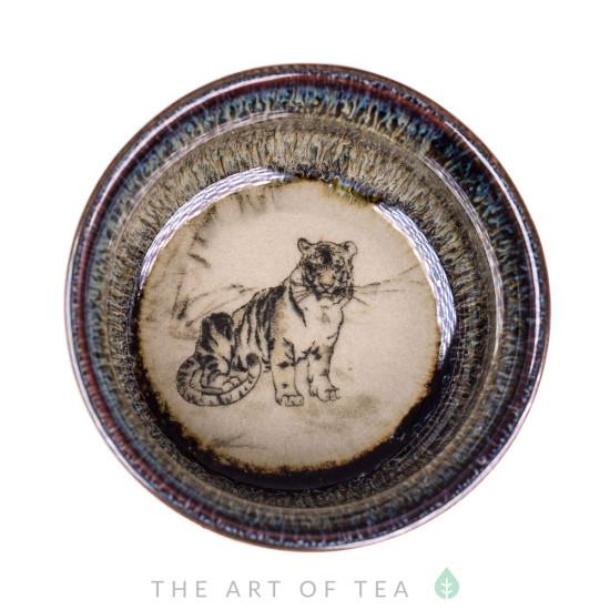 Пиала Тигр 491, глина, глазурь