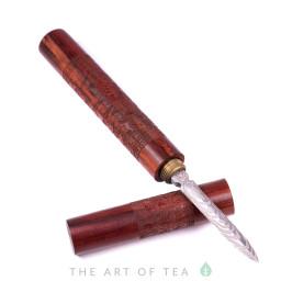 Нож для пуэра Дракон и Феникс, светлое дерево