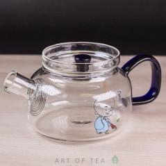 Чайник из стекла #2, ручная работа, 250 мл