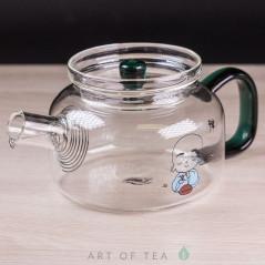 Чайник из стекла, ручная работа, 250 мл