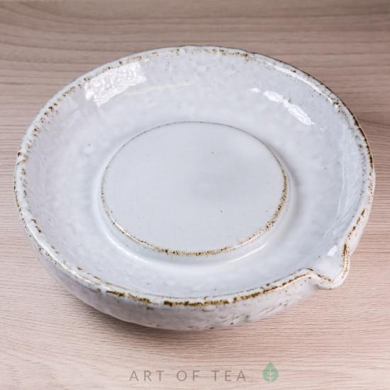 Чайный пруд Снег, керамика, 14 см