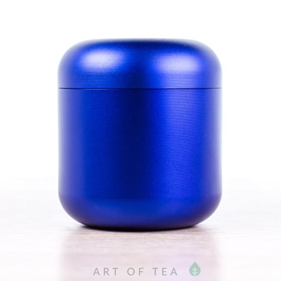 Баночка для чая Гильза, синяя, 4,5*5 см