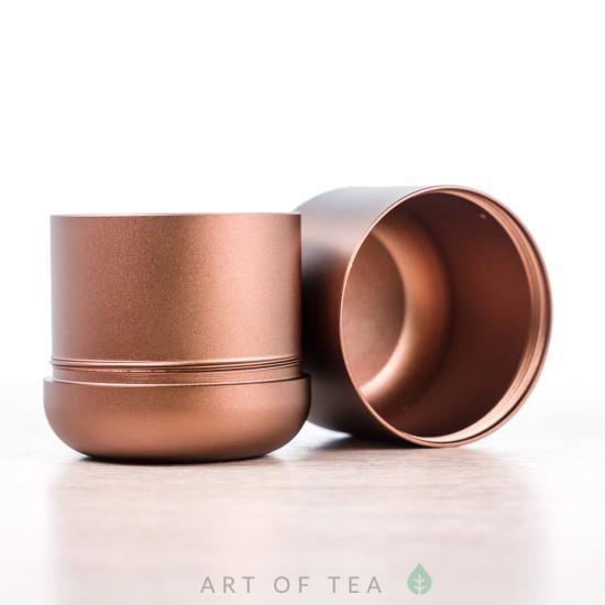 Баночка для чая Гильза, бронзовая, 4,5*5 см