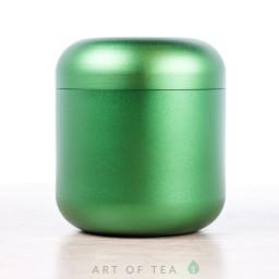 Баночка для чая Гильза, зелёная, 4,5*5 см